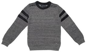 Allen Solly Girl Cotton Solid Sweater - Grey