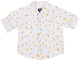 Allen Solly Cotton Printed Shirt for Baby Boy - White