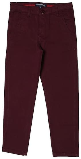 Allen Solly Boy Solid Trousers - Purple
