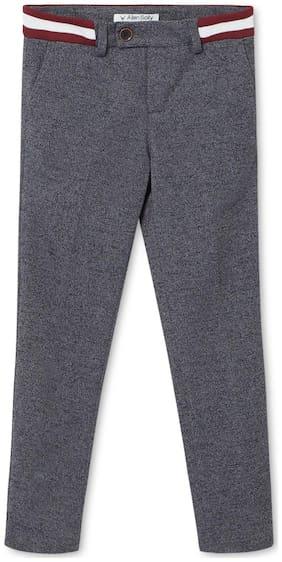 Allen Solly Boy Solid Trousers - Grey