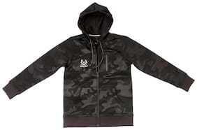 Allen Solly Boy Blended Solid Sweatshirt - Black