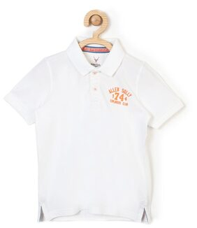 Allen Solly Boy Cotton Solid T-shirt - White