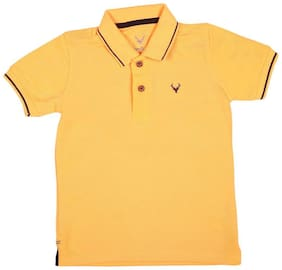 Allen Solly Boy Polyester Solid T-shirt - Yellow