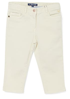 Allen Solly Girl Solid Jeans - White