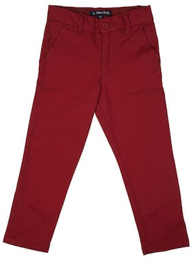 Allen Solly Girl Blended Trousers - Red