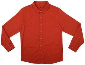 Allen Solly Boy Cotton Printed Shirt Red