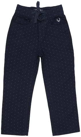 Allen Solly Boy Printed Trousers - Blue