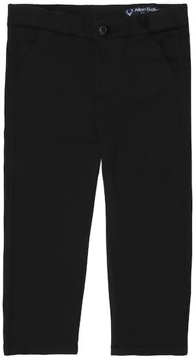 Allen Solly Boy Solid Trousers - Black
