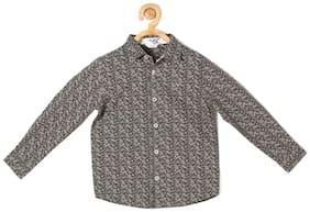 Allen Solly Boy Cotton Printed Shirt Grey