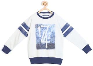 Allen Solly Boy Blended Printed Sweatshirt - White