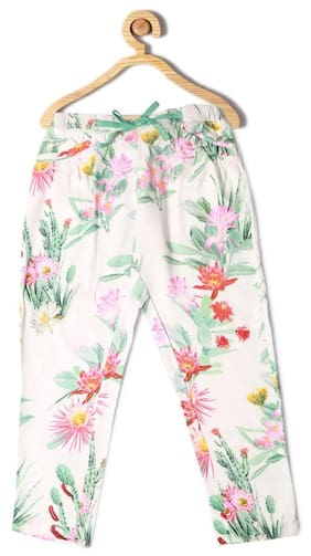 2beab35df Allen Solly Girl Cotton Trousers - White