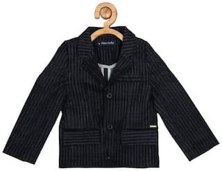 Allen Solly Boy Blended Solid Winter jacket - Black