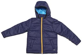 Allen Solly Boy Polyester Solid Winter jacket - Blue