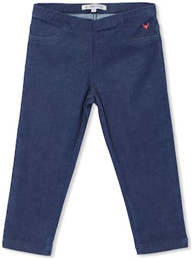 Allen Solly Basic Straight fit Jeans for Girls - Blue
