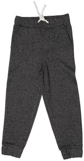 Allen Solly Boy Cotton blend Track pants - Black
