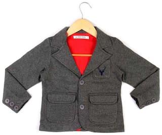 Allen Solly Boy Cotton Solid Winter jacket - Grey