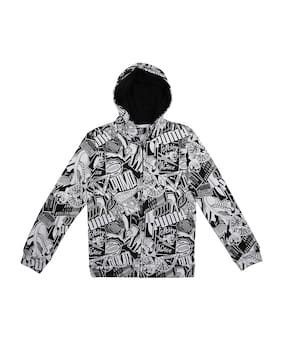 Puma Boy Cotton Printed Winter jacket - Black