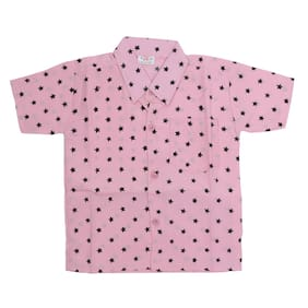 AMAANEE BY REDSON Boy Cotton blend Printed Shirt Pink
