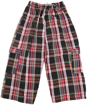 AMAANEE BY REDSON 9-10 & 10-11 Years Big Boys Plaid Check Soft Lightweight 100% Cotton Lounge Capris with Pocket