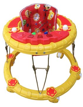 Amardeep baby walker shine red with attaractive design and musical 6+ months baby walker 1,498