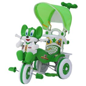 Amardeep Baby Tricycle Green 86*64*33 cms 1-3 yrs W/Shade and Parental Control
