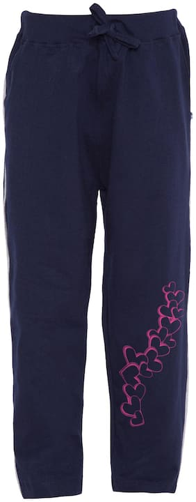 American-Elm Girl Cotton blend Track pants - Blue