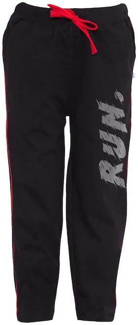 American-Elm Boy Cotton Track pants - Black