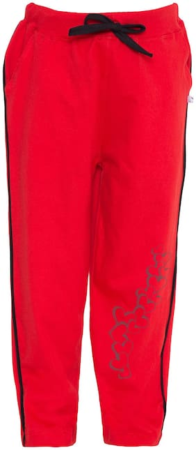 American-Elm Girl Cotton blend Track pants - Red
