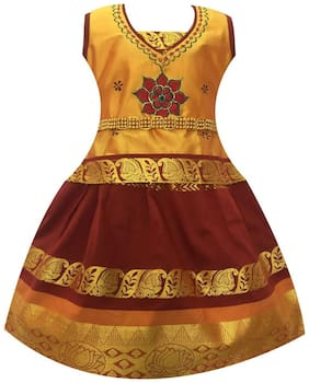 Amirtha Fashion Girls Traditional Sembhaga Pattu Lehenga Choli's (AMFSPGM)