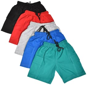 AMIRTHA FASHION Boys Pure Cotton Shorts Combo 5 Pack(AMFSHS7 6-7 YEARS_75)