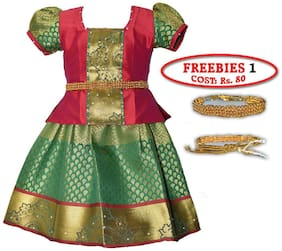 Amirtha Fashion Girls Traditional SARANYA PATTU Lehenga Choli's (AMFSYPG)