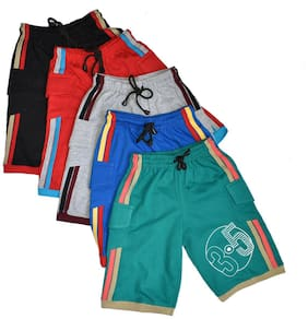 AMIRTHA FASHION Boys Pure Cotton Shorts Combo 5 Pack(AMFTFS3 2-3 YEARS_55)