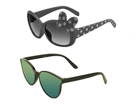 Amour 100% UV Protected Combo for Kids Sunglasses - Pack of 2