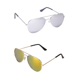 Amour aviator shaped UV Protected Combo Kids Sunglasses - Pack of 2