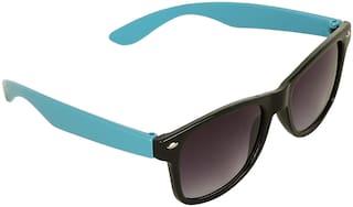 Amour Blue & Black Full Frame Wayfarer Sunglasses with Black Lens for Kids with Case