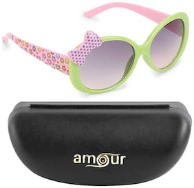 Amour Classic Green Pink Baby Sunglass