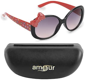 Amour Fashionable Black Red Baby Sunglass