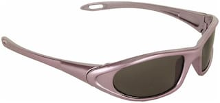 Amour Pink Full Frame Oval Sunglasses with Black Lens for Kids with Case