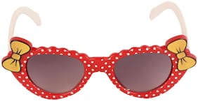 Amour Red & Yellow Full-Framed Cat-Eye Sunglasses with Purple Gradient Lens for Girls (3+ Years)