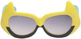 Amour UV Protected Yellow Black Batman style kids sunglass for kids