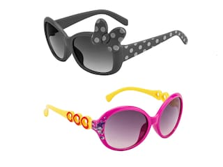 Amour UV Protected Combo for Kids Sunglasses - Pack of 2