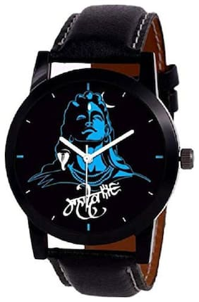 Analogue Black Dial Mahadev Watch