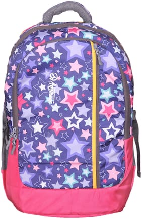 Anemone Polyester 35 LTR Backpack/School Bag 18 (Pink) Rain Cover