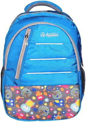 Anemone Polyester 27 LTR Backpack/School Bag 14 (Blue)
