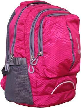 Anemone Polyester 21 LTR Backpack/School Bag 09 (Pink)