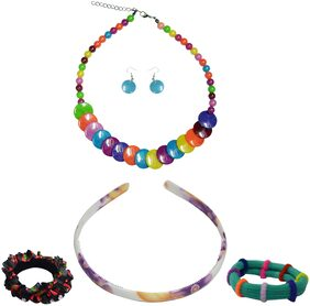"Angel Glitter ""Colorful Combo"" Jewellery Set For Kids"