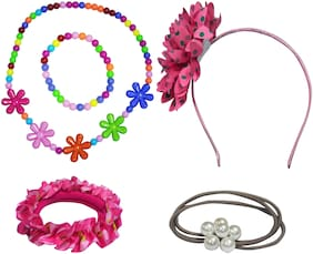 """Angel Glitter """"The Pretty Flowers With Big Flower"""" Jewellery Set For Kids"""