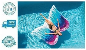 Angel Wings Mat Inflatable Floating Swimming Pool Lounge