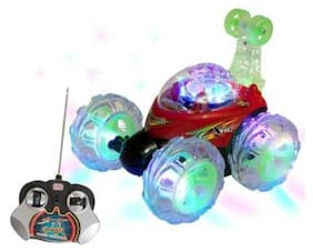 Angry Bird Rechargeable Remote Controlled Stunt Car With 3D Led Lights And Music (Multicolor)