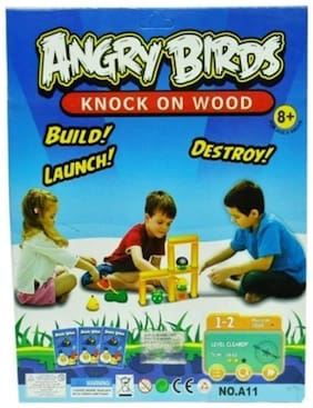 ANGRY BIRDS KNOCK ON WOOD BOARD GAME - BUILD, LAUNCH, DESTROY Board Game